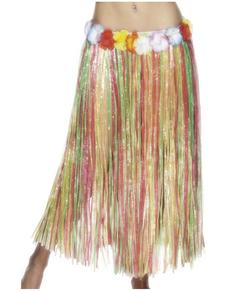 Jupe hawaïenne multicolore