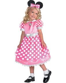 Costume de Minnie Mouse Clubhouse rose haut de gamme pour fille