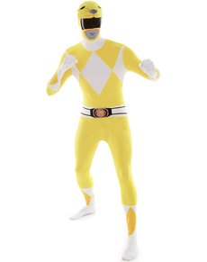 Déguisement Power Rangers Jaune Morphsuit