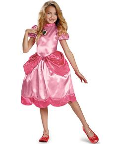 Costume de princesse Peach classique pour fille
