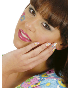 Kit 24 ongles hippies