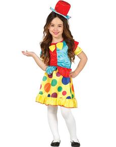 Déguisement de petit clown chic pour fille