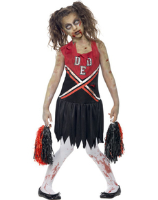 Costume pom-pom girl zombie pour fille