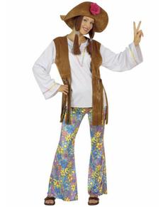 Déguisement hippie Woodstock Festival femme
