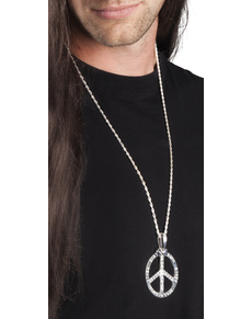 Collier peace and love homme
