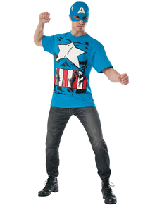 T-shirt Captain America Marvel pop adulte