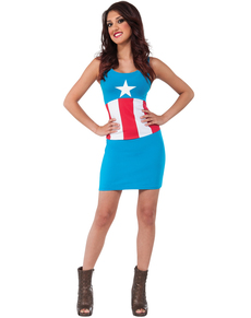 Robe costume American Dream Marvel classic femme