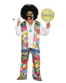 Déguisement hippie peace homme