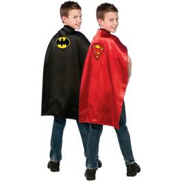 Cape Batman et Superman réversible enfant