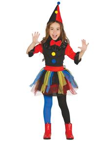 Déguisement arlequin multicolore fille