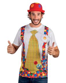 T-shirt clown joyeux adulte