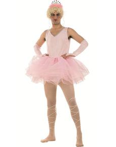 Costume ballerine tutu rose homme