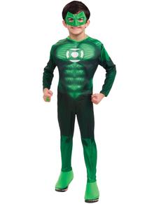 Costume de Green Lantern musclé garçon